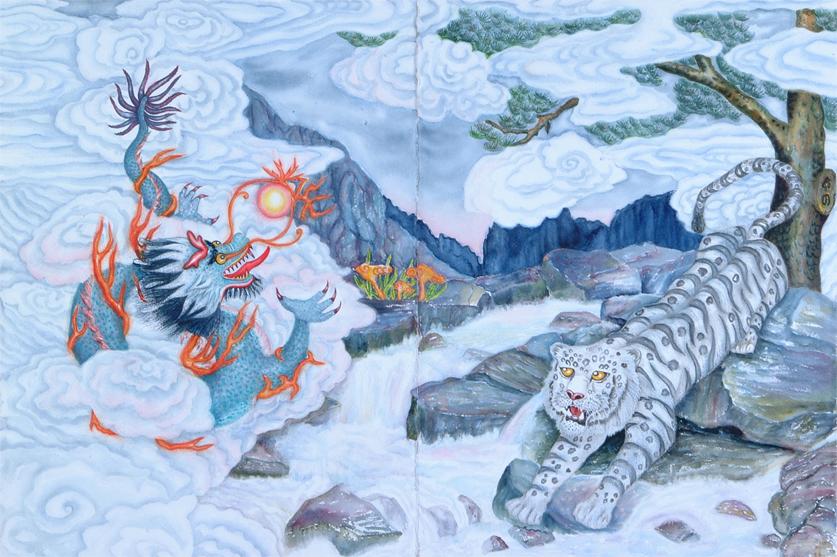 Blue Dragon White Tiger
